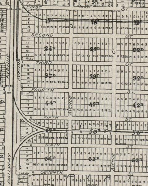 1918 Miami Map