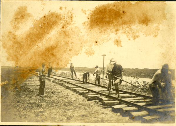 Laying Track 8 Miles South of Florida City