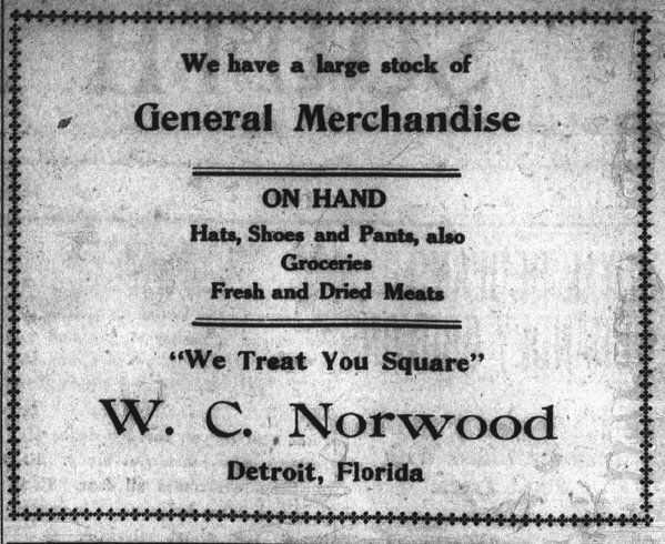Norwood s Store Ad SFB Sept 6 1912 p 2