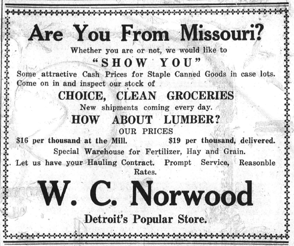 Norwood s Store SFB January 24 1913 p 4